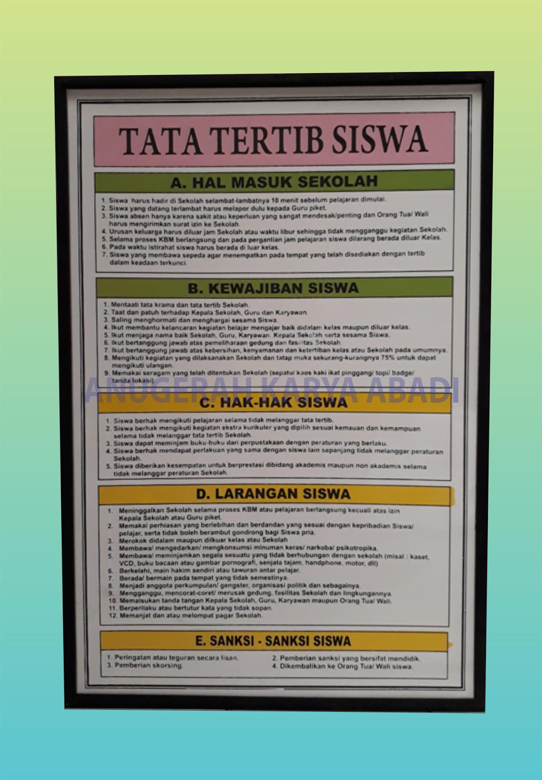 Papan Data Sma Smk Ma Sederajat Papan Data Cv Anugerah Karya Abadi Semarang