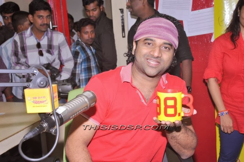Devi Sri Prasad at Radio Mirchi Hyderabad - Julayi Promotion