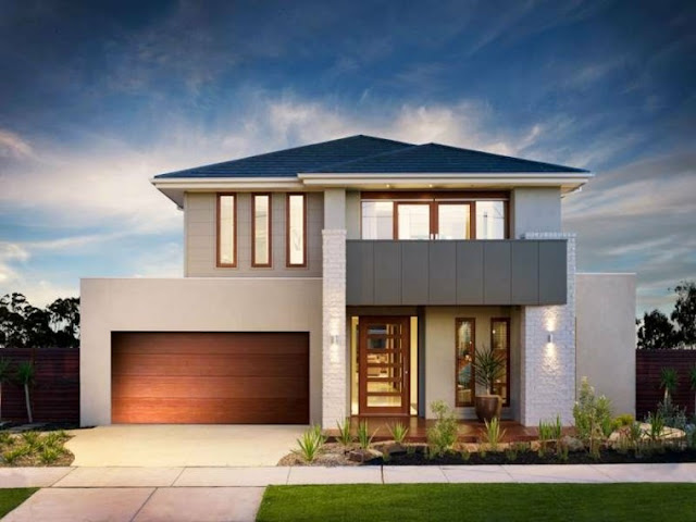 modern house facades for double story homes