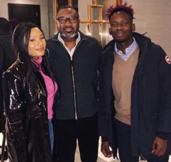 Billionaire Femi Otedola Pictured With His Daughter, Temi, And Her Date MrEazi