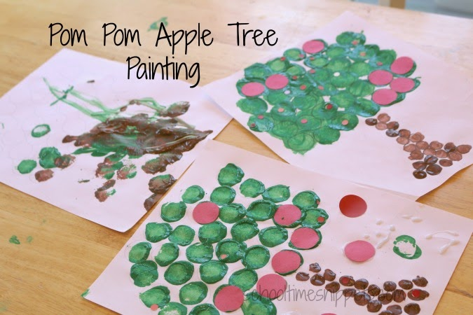 fine motor skills apple craft