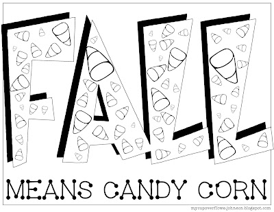 free fall coloring pages candy corn