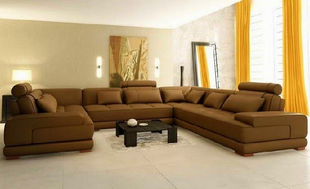 Brown Large Sectional Sofa