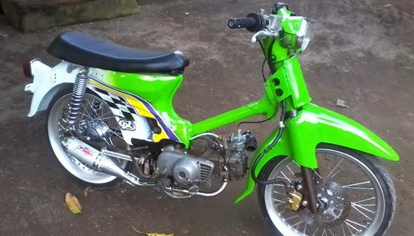 Foto dan Gambar Motor Modifikasi Honda Pitung C70 Paling Keren