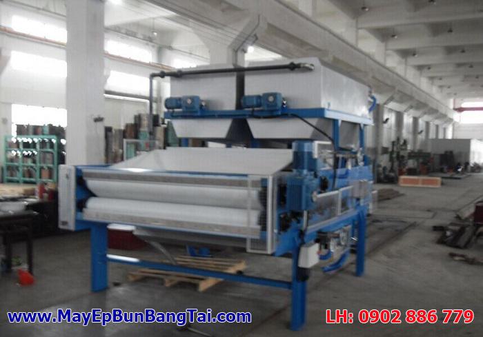 Sản xuất máy ép bùn băng tải Việt Nam, hoàn thiện thiết bị tại xưởng để chuẩn bị bàn giao