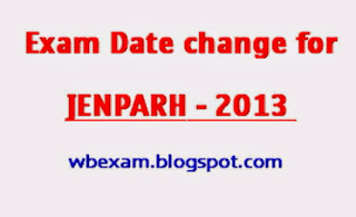 JENPARH-2013 entrance exam date changed. 1