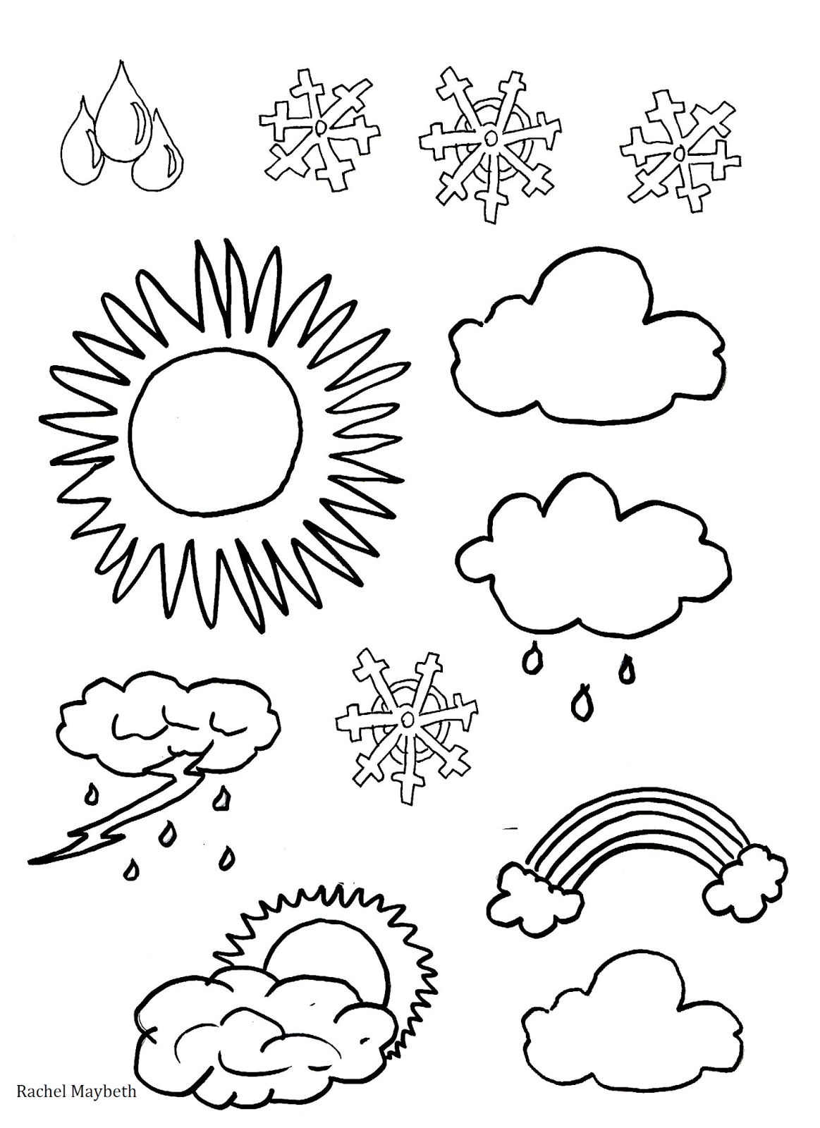 rachel maybeth free weather clipart coloring pages. Black Bedroom Furniture Sets. Home Design Ideas