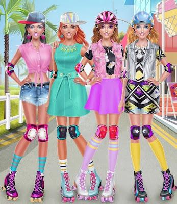 game sepatu roda Roller Skate Chics : Girls Date