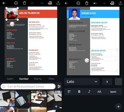 Cara Membuat CV Lamaran Kerja Yang Menarik Dengan Desain Keren Di Android