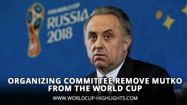 Organizing Committee Remove Mutko from the World Cup