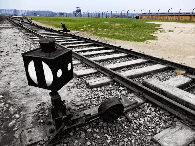 Birkenau, vias del tren que transportaba a los prisioneros