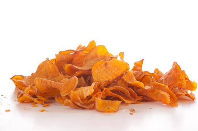 Receta con calabazas de Halloween - chips de calabaza