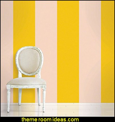 stripes on walls - striped decorating ideas - stripe wall decals ...