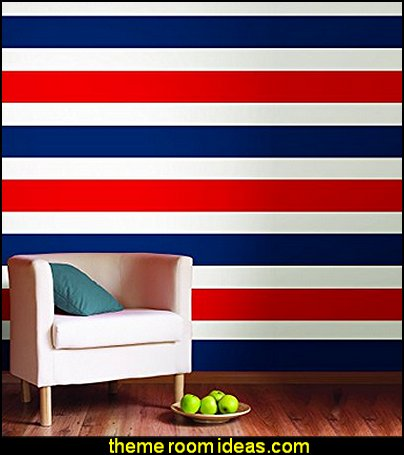 Red Hot Stripe  striped wallpaper  stripes on walls - striped decorating ideas - stripe wall decals - stripes bedding - stripes wallpaper - stripe theme baby nursery - decorating with stripes - striped rooms - painted stripes - striped walls - stripe bedding - stripe pillows - striped decorations