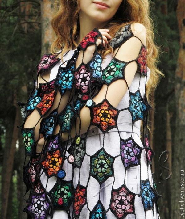 Crochet Wrap - Beautiful Hexagon Motif