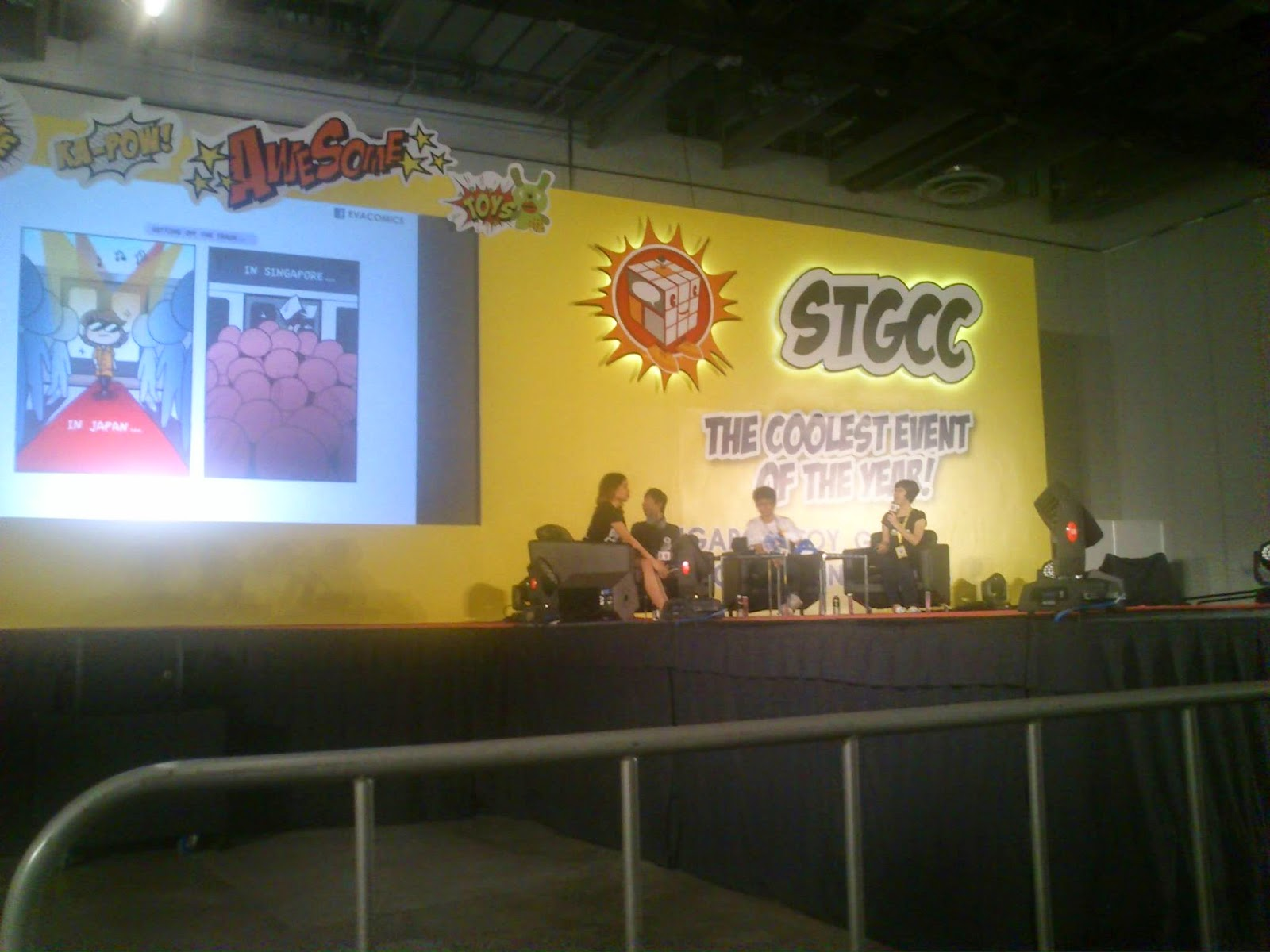 Evacomics at STGCC social media and comics