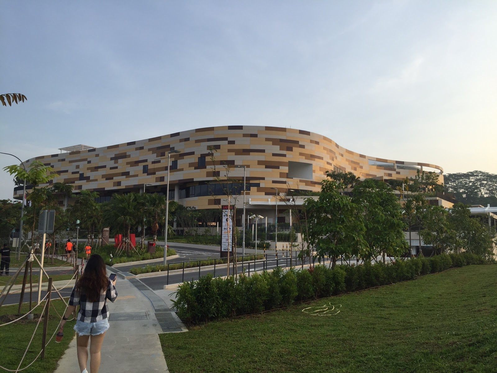 Brand New Safra Punggol. Security Guy On The Left Turning All The Cars Away