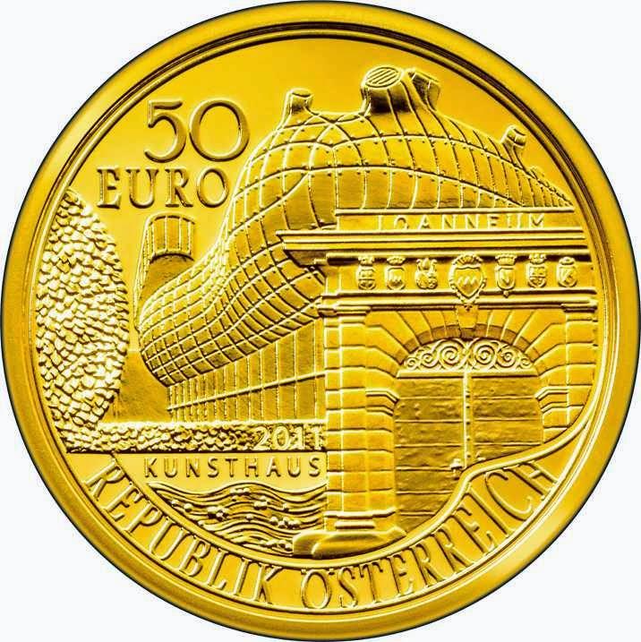 Austria 50 Euro gold coin 2011 200 years Joanneum Universal Museum Graz