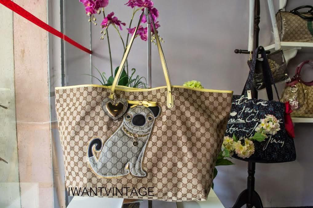 73db375958aa I Want Vintage   Vintage Designer Handbags: Gucci Guccioli Large ...