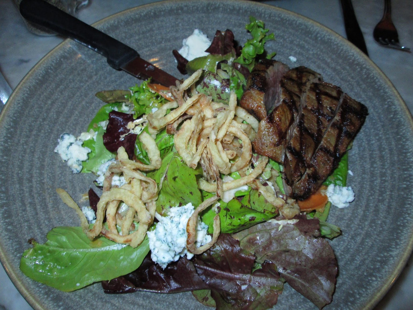 bcd8dd09c9e5 Above and below are salads at Station House Cafe