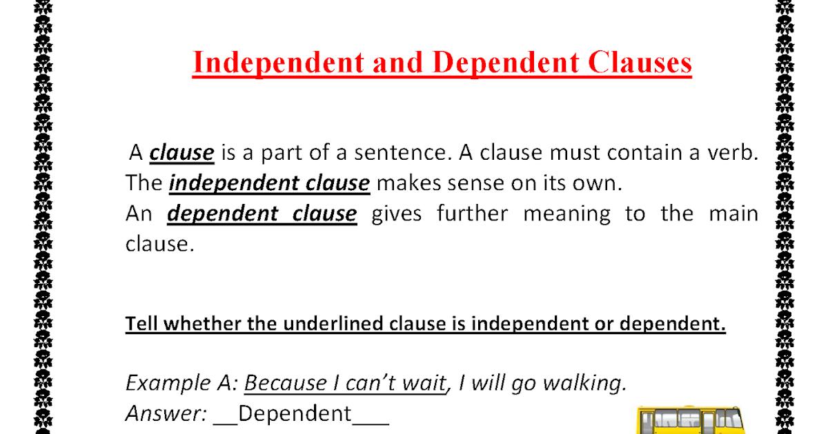 Subordinate Clause Worksheet Oaklandeffect