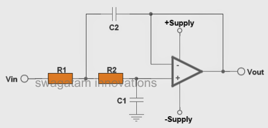 standard opamp based low pass filter circuit