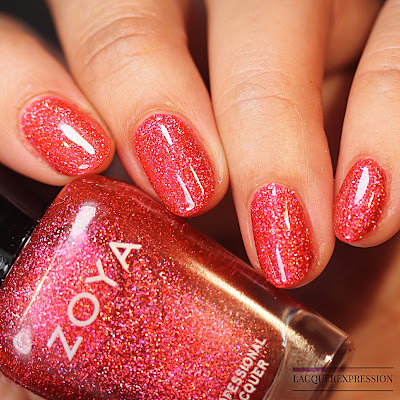 Nail polish swatch of Everly from the trio of holographic polishes from the Winter Holo collection by Zoya