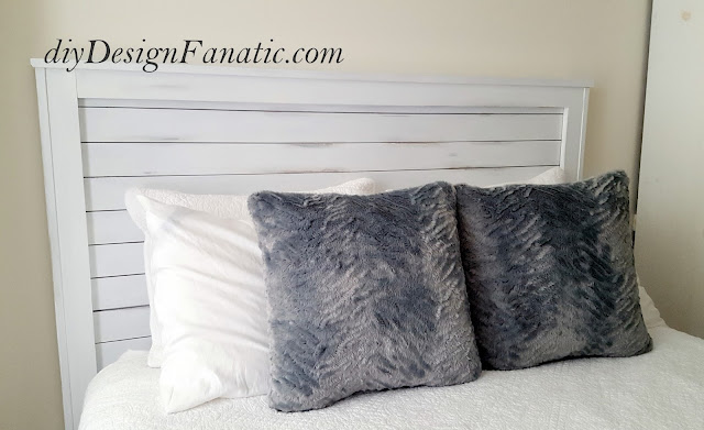 Farmhouse bed, farmhouse style, farmhouse, Farmhouse headboard, cottage, cottage style, distressed headboard, diy, diyDesignFanatic.com