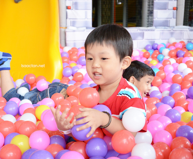 The ball pits were fun too!