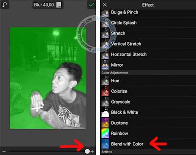 Cara membuat foto berasap rokok warna pelangi