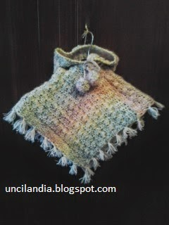 Uncilandia Poncho Alluncinetto Per Bambinaponcho Crochet Baby
