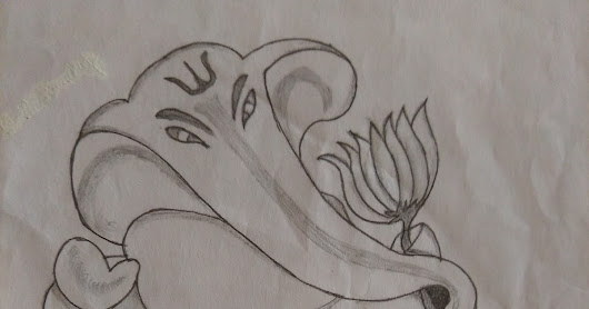 pencil art of vinayagar