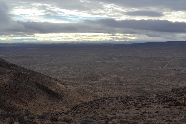 flat desert, mostly