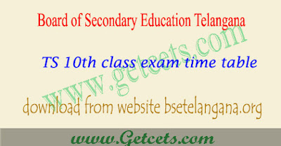 TS 10th class time table 2019-2020, Telangana ssc exam dates