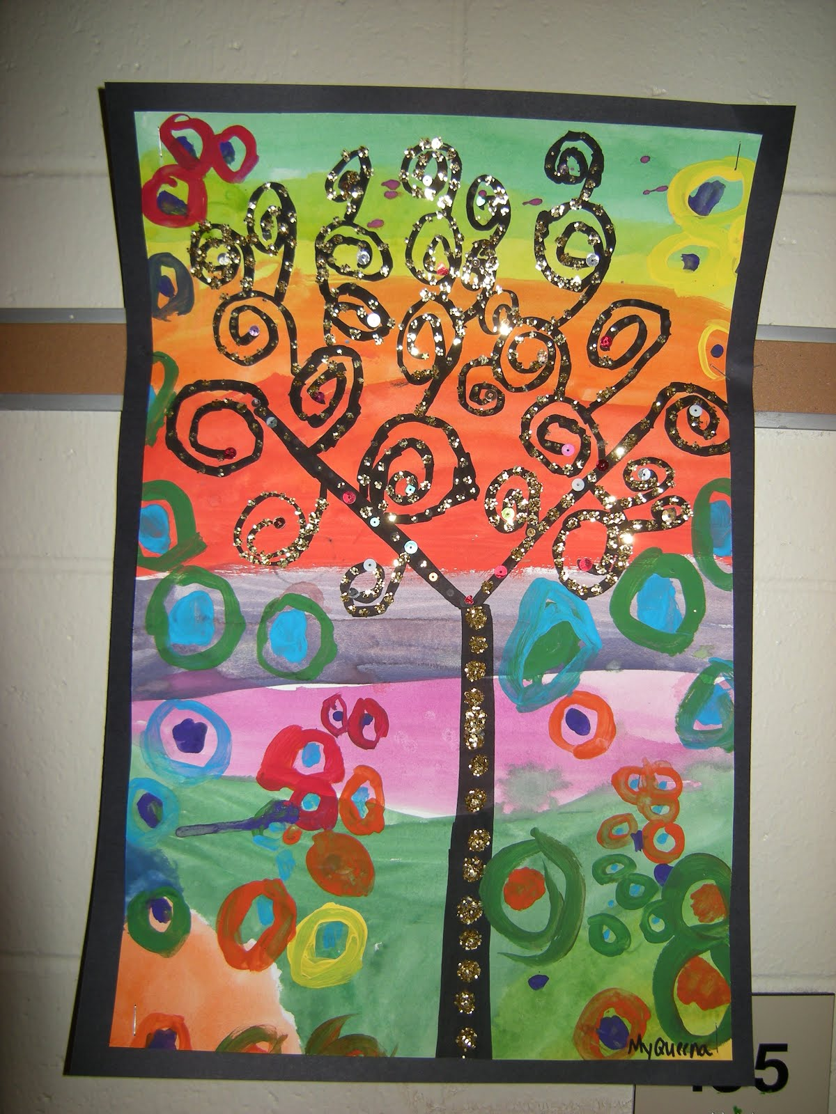 What S Happening In The Art Room 3rd Grade Klimt Trees