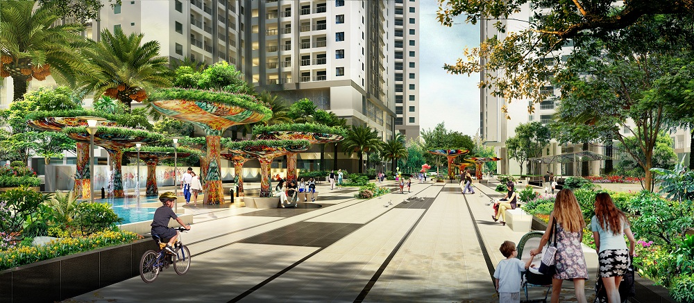 Phối cảnh sinh hoạt thường ngày của cư dân tại dự án chung cư Goldmark City