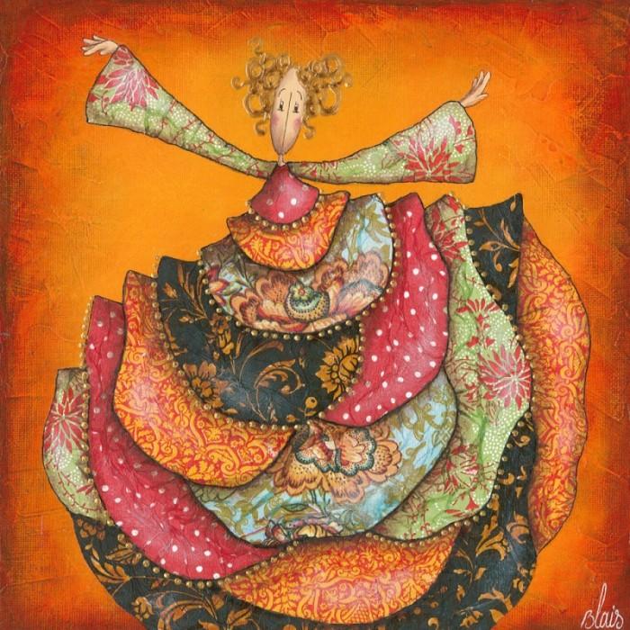 Вселенная спокойствия и мечтательности. Delphine Blais