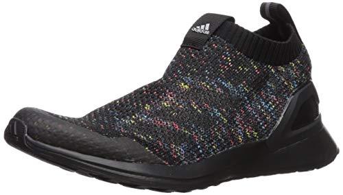 7b050eed12 #shoes #little adidas Unisex RapidaRun Laceless, Black/Shock Cyan/Active  red, 6 M US Big Kid 2019