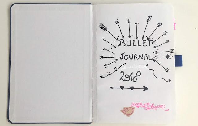 page de couverture de mon bullet journal