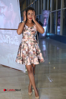 Actress Madhu Shalini Stills in Floral Short Dress at RGV Shiva to Vangaveeti Event  0162.JPG