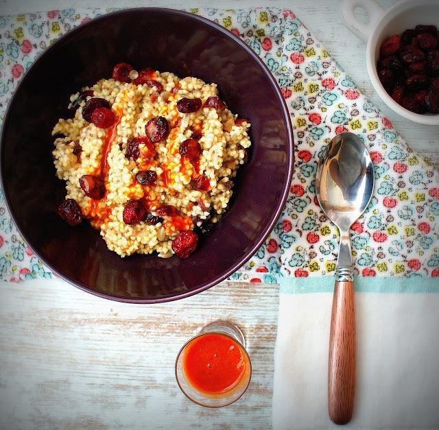 symbio,wegetarianizm,suszona zurawina,kasza jaglana,sok z jagód goji,jagody goji,dieta,detoks,zdrowe odzywianie,