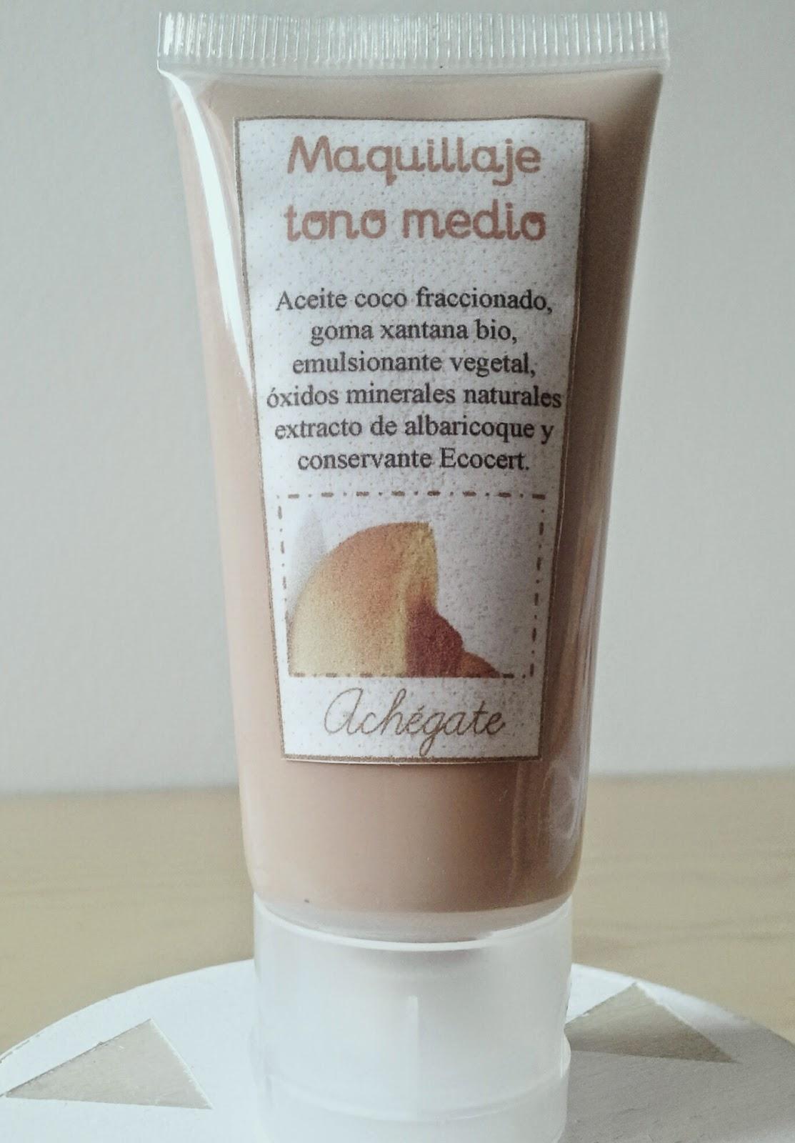 """Base maquillaje bio fluido tono medio """"oil free"""" envase plástico"""