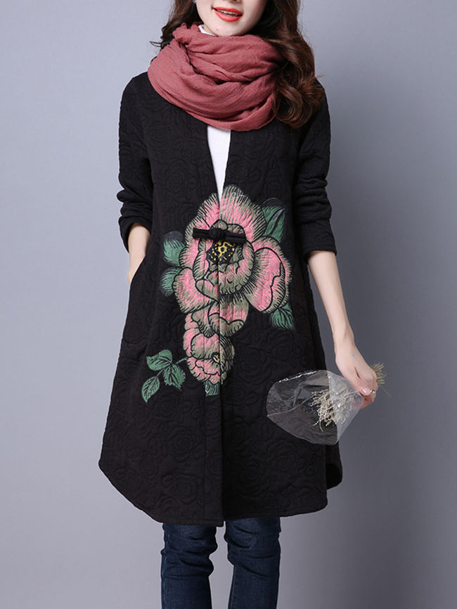 http://www.fashionmia.com/Products/curved-hem-quilted-single-button-floral-coat-197389.html