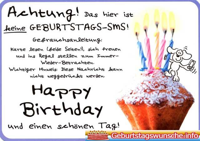 Geburtstagssprüche für SMS - Geburtstags-SMS für Whatsapp