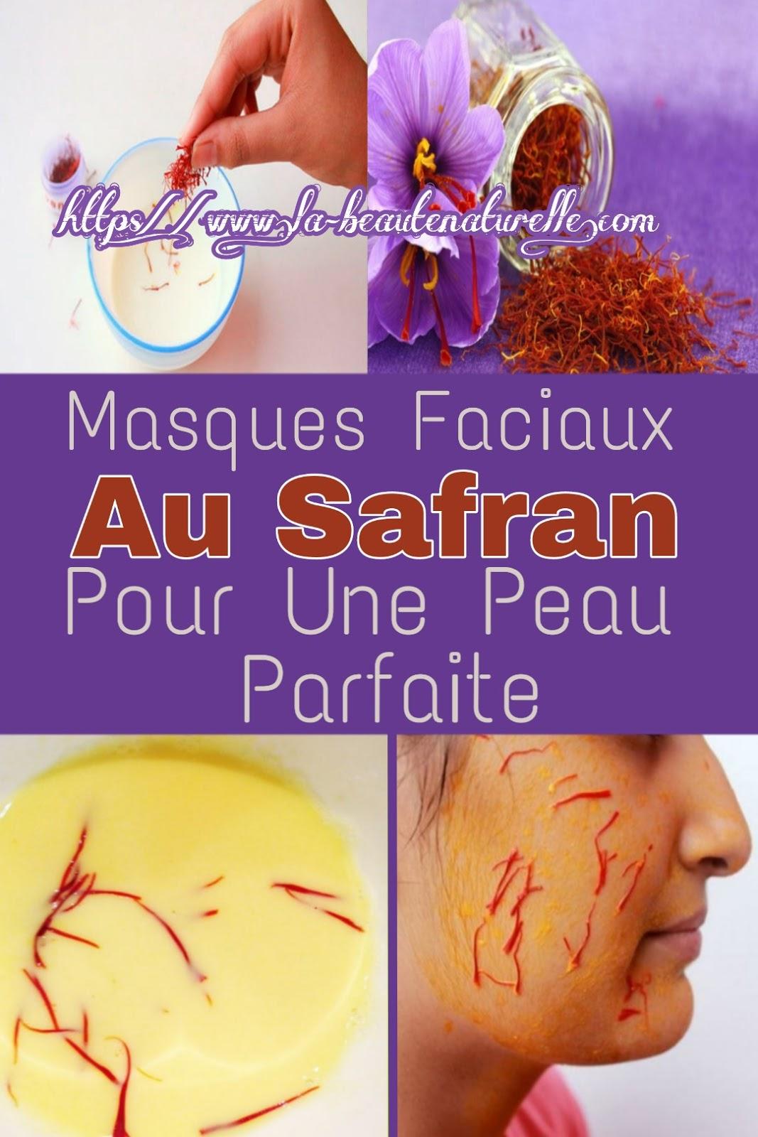Masques Faciaux Au Safran Pour Une Peau Parfaite