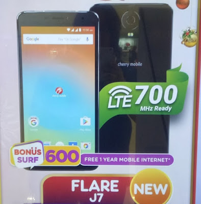 Cherry Mobile Flare J7; Quad Core LTE with 4,900mAh Battery for Php4,999
