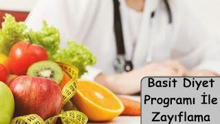 basit diyet programı ile zayıflama
