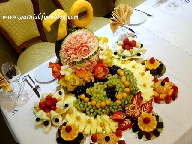 table fruit display