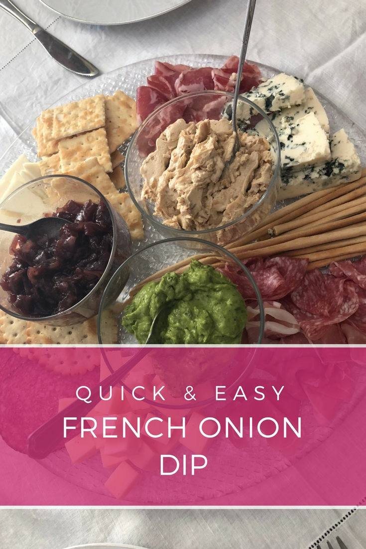 Quick French Onion Dip: It's absolutely delicious and you only need 3 ingredients and just 1 minute to make this amazing crowd pleaser dip | Ioanna's Notebook