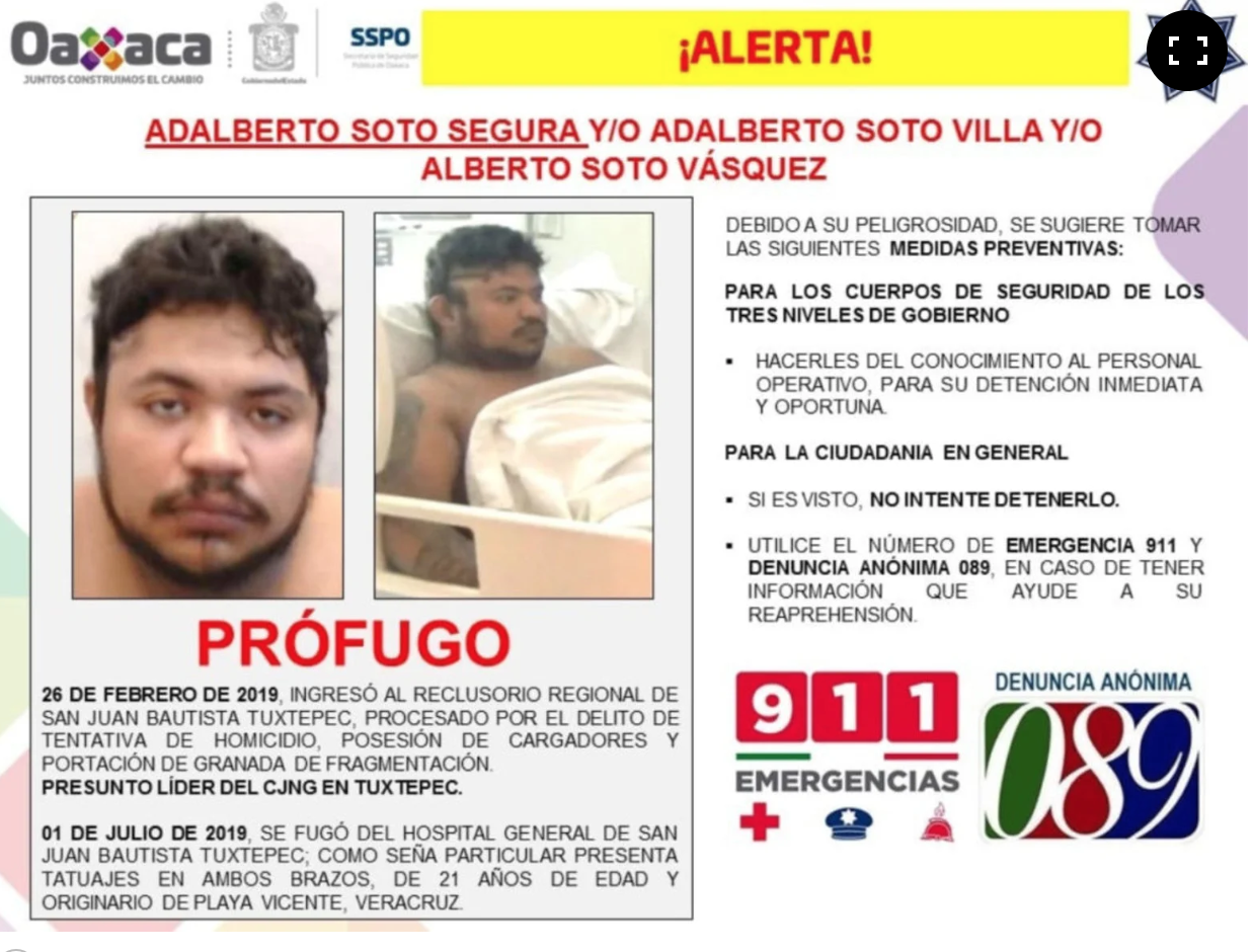 CJNG Leader Escapes Hospital in Oaxaca - News Now Vegas